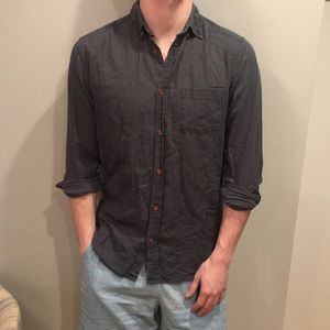 UO Green Casual Button Down